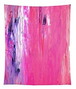 Girl Time - Pink And Purple Abstract Art Painting Tapestry