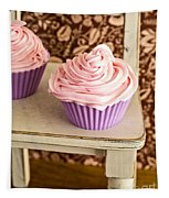 Pink Cupcakes Tapestry