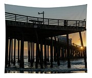 Pismo Beach Pier At Sunset, San Luis Tapestry