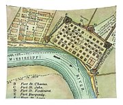Plan Of New Orleans, 1798 Tapestry