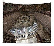 pointed vault of Saint Barbara church Tapestry