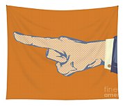 Pointing Finger Vector Tapestry