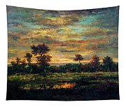 Pond At The Edge Of A Wood Tapestry