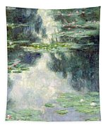 Pond With Water Lilies Tapestry