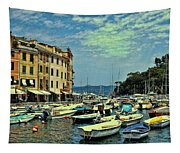 Portofino Harbor Tapestry