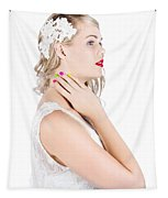 Portrait Of A Beautiful Bride Tapestry
