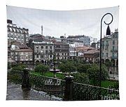 Praza Da Ferreria In Pontevedra Tapestry