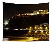Puerto De La Cruz By Night Tapestry