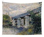 Railway Bridge At Argenteuil Tapestry