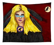 Raven Yellow Hair Tapestry