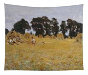 Reapers Resting In A Wheat Field Tapestry