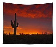 Red Desert Skies  Tapestry