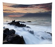 Red Sky Over Lanai Tapestry
