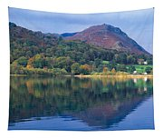 Reflection Of Hills In A Lake Tapestry