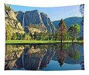 Reflections Of Yosemite Falls Tapestry