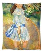 Renoir's Girl With A Hoop Tapestry