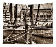 River Thames Sailing Barges Tapestry