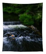 River Wye Waterfall - In Bakewell Peak District - England Tapestry