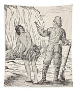 Robinson Crusoe And Friday Tapestry