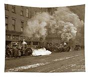 Steam Pumper Rochester Show Case Co. Fire Circa 1890s Tapestry
