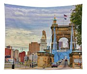 Roebling Bridge 9872 Tapestry