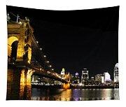 Roebling Suspension Bridge Pano 3 Tapestry