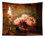 Roses By Candlelight Tapestry