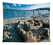 Sandcastle On The Beach Tapestry