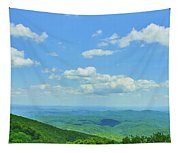 Scenic View Of Mountain Range, Blue Tapestry