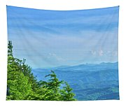Scenic View Of Mountain Range Tapestry