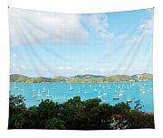 Sea Of Sailboats Tapestry