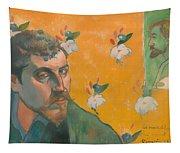Self Portrait With Portrait Of Bernard Tapestry