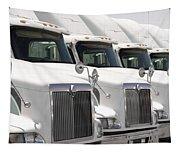 Semi Truck Fleet Tapestry