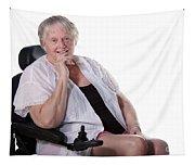 Senior Woman In Wheel Chair Tapestry