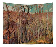 Silvery Tangle Tapestry