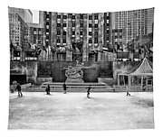 Skating At Rockefeller Plaza Tapestry
