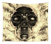 Skull In Sepia Tapestry