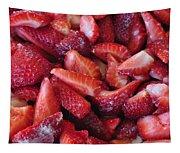 Sliced Strawberries Tapestry