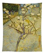 Small Pear Tree In Blossom Tapestry