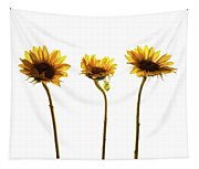 Small Sunflowers Or Helianthus Tapestry