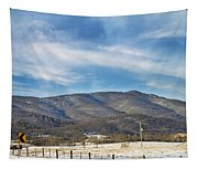 Snowy High Peak Mountain Tapestry