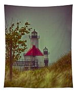 St. Joseph North Pier Lighthouse Lake Michigan. Tapestry