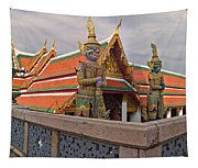 Statues At A Temple, Wat Phra Kaeo Tapestry
