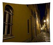 Street Alley By Night Tapestry