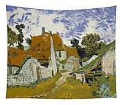 Street In Auvers-sur-oise Tapestry