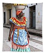 Street Vendor Tapestry