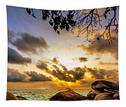 Sun Sand Sea And Rocks Tapestry