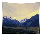 Sunrise On Aoraki Mount Cook In New Zealand Tapestry