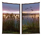 Sunset At Fort Smallwood Tapestry