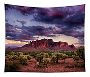 Sunset At The Superstitions  Tapestry